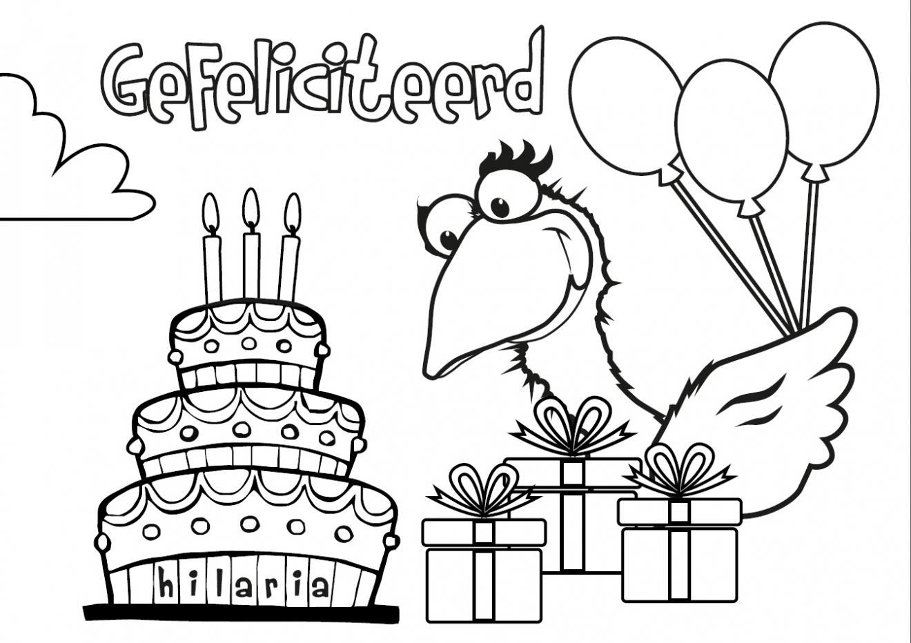 kleurplaten nl kleurplaat verjaardag gefeliciteerd